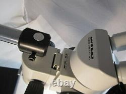 Leica Wild Heerbrugg stereo Microscope M8, 10x/21B eyepcs, on boom stand