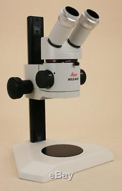 Leica Wild Heerburg M3B Stereo Microscope withPlain Stand, Focus Drive & Binocular