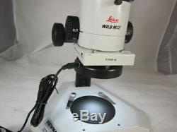 Leica Wild M3z Stereo Zoom Binocular Microscope On Table Stand, 1.0x Lens