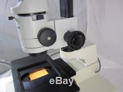 Leica Wild M3z Stereo Zoom Binocular Microscope On Transmitted Light Base Stand