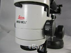 Leica Wild M3z Stereo Zoom Binocular Microscope On Wild Boom Stand, 0.63x Lens