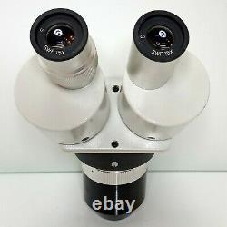 MEIJI EMT-2 Stereo Turret Microscope SWF15X Eyepieces 15X 45X Mag SERVICED #425
