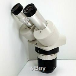 MEIJI EMT-2 Stereo Turret Microscope SWF20X Eyepieces 20X 60X Mag SERVICED #427