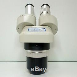 MEIJI EMT-2 Stereo Turret Microscope W10XS Eyepieces 10X & 30X Mag SERVICED #423