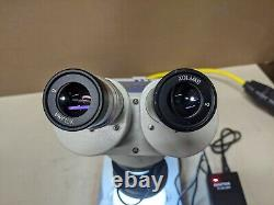 MEIJI EMT Stereo Microscope SWF10X Eyepieces LED Ring Light Base 1x-3x Turret