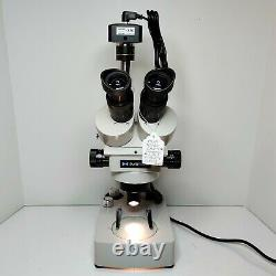 MEIJI EMZ-5 Stereo Microscope SWF10X Eyes Camera Stand 10X-45X Mag SERVICED #450