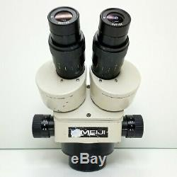 MEIJI EMZ-5 Stereo Zoom Microscope SWF10X Cosmetic Deal 7X-45X Mag SERVICED #428