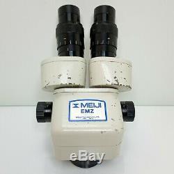 MEIJI EMZ-5 Stereo Zoom Microscope SWF10X Cosmetic Deal 7X-45X Mag SERVICED #428