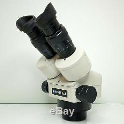 MEIJI EMZ-5 Stereo Zoom Microscope SWF10X Eyepieces 7X-45X Mag SERVICED #433