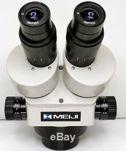 MEIJI EMZ-5 Stereo Zoom Microscope SWF10X Eyepieces 7X-45X Mag SERVICED #437