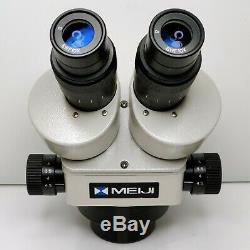 MEIJI EMZ-5 Stereo Zoom Microscope SWF10X Eyepieces 7X-45X Mag SERVICED #438