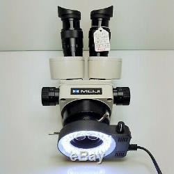 MEIJI EMZ-5 Stereo Zoom Microscope SWF10X Eyepieces and LED Light SERVICED #439