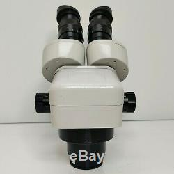 MEIJI EMZ-5 Stereo Zoom Microscope SWF10X Eyepieces and LED Light SERVICED #445