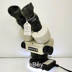 MEIJI EMZ-5 Stereo Zoom Microscope SWF10X LED 0.5X Barlow 151mm WD SERVICED #441