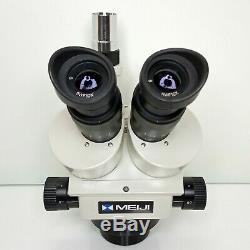 MEIJI EMZ-5TR Trinocular Zoom Stereo Microscope SWF10X 7X-45X Mag SERVICED #432
