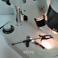 MEIJI MTS Gemscope Stereo Microscope SWF10X Gem Stand 10X &30X SERVICED #451