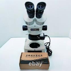 MEIJI TECHNO EMZ-5 Stereo Microscope SWF10X & LED Light & Meiji Desk STAND #564