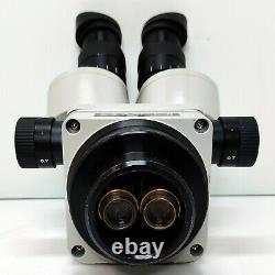 MEIJI TECHNO EMZ-5 Stereo Zoom Microscope SWF10X Eyepieces SERVICED #446