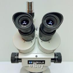 MEIJI TECHNO EMZ-5TR Stereo Zoom Trinocular Microscope SWF10X EXCELLENT #417