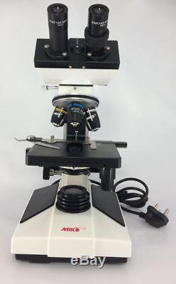 MIKO MD-52B compound binocular microscope led stage slide bulb eye piece stereo