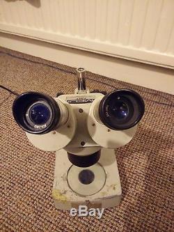 Meiji EMT Binocular Stereo Microscope 1x-3x Objectives 10x Super Wide Eyepieces