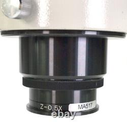 Meiji EMZ-5 Stereo Zoom Microscope on Boom Stand withNikon Fiber Optic Ring Light