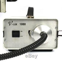Meiji EMZ-5 Stereo Zoom Microscope withBoom Stand+Fiber Ring Light Refurbished