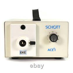 Meiji EMZ-5 Stereo Zoom Microscope withBoom Stand +Schott-Fostec Fiber Light