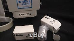 Meiji EMZ-5TRD Binocular Microscope Stereo Zoom Focusing Mount Eye Pieces NOS