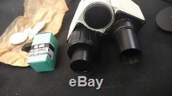 Microscope Binocular Stereo Head Filters Lenses Bulb Accessories Box Russian