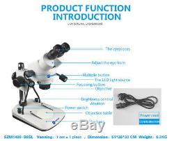 Microscope Binocular Stereo Professional 14x90 Zoom Metal Sunshine Szm1490