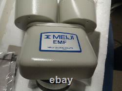 NEW Meiji Stereo Microscope Head 1x plus 15x SWF Eyepieces JAPAN