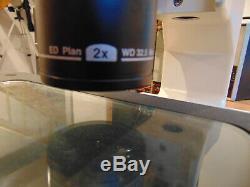 NIKON SMZ-800 STEREO ZOOM MICROSCOPE With ERGO HEAD, ED Plan 2X WD 32.5 Objective