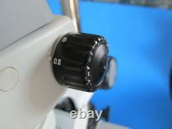 NIKON SMZ645 0.8x-5x STEREO ZOOM MICROSCOPE With LIGHT & 10X EYEPIECES