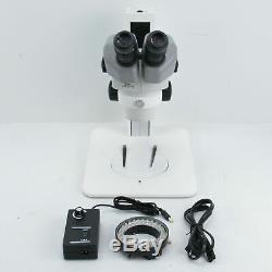 NIKON SMZ645 8x-50x STEREO ZOOM MICROSCOPE With LIGHT RING & 10X EYEPIECES
