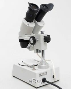 National 406 TBL-10 Stereo Dissecting Microscope W10X Eyepiece 3X Objective