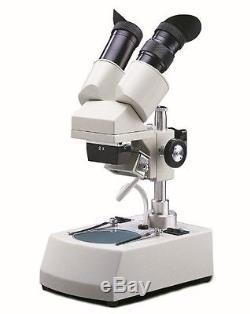 National Optical 405TBL-10-2 Binocular Stereo Microscope, WF10x Eyepieces, 20x
