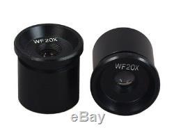 New Student Binocular Stereo Microscope 10X-20X-30X-60X