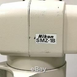 Nikon SMZ-1B Stereo Zoom Microscope Head, Mag 0.8x to 3.5x, Eye Pieces 10x/21