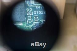 Nikon SMZ 2 stereo binocular microscope, large boom stand, 0.5x barlow, light