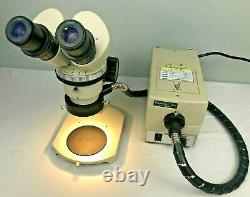 Nikon SMZ Stereo microscope with light source, 40x magnification, tested, warranty