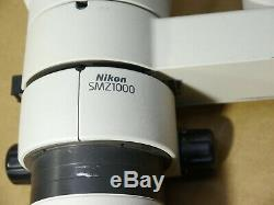 Nikon SMZ1000 Stereo Zoom Microscope Plan Apo 1x WD 70 Photo Port