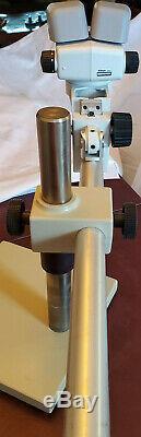 Nikon SMZ645 Stereo Zoom Microscope With Nikon C-PS Stand, 2x Nikon C-W10X/22 lens