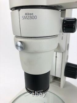 Nikon SMZ800 Stereo Trinocular Microscope Diascopic Stand 1x Objective 103%