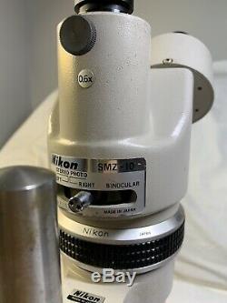 Nikon STEREO PHOTO BINOCULAR Microscope SMZ-10 MADE IN JAPAN! TESTED! WORKS