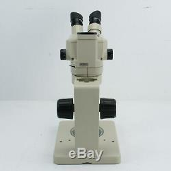 OLYMPUS SZ40 CAMERA PORT STEREO ZOOM MICROSCOPE With LIGHT RING & 20X EYEPIECES