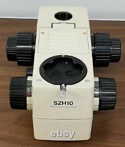 OLYMPUS SZH10 SZH-10 research stereo microscope Zoom body only, clean optics
