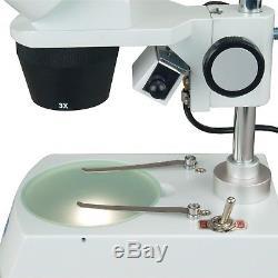 OMAX 10X-20X-30X-60X 2-Light Binocular Stereo Microscope+USB Camera+Clean Pack