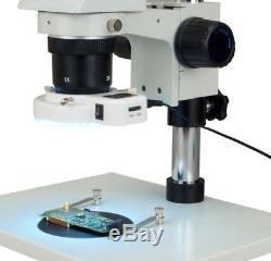 OMAX 10X-20X-30X-60X Stereo Binocular Microscope+54 LED Ring Light
