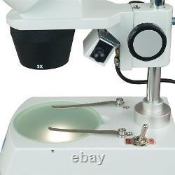 OMAX 10X-30X 1.3MP Camera Binocular Student Stereo Microscope with Dual Lights